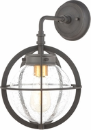 ELK 46730-1 Davenport Contemporary Charcoal / Brushed Brass Outdoor Wall Lighting