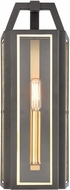 ELK 46740-1 Portico Contemporary Charcoal / Brushed Brass Outdoor Sconce Lighting