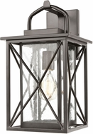 ELK 46751-1 Carriage Light Contemporary Matte Black Outdoor 9 Wall Sconce Lighting