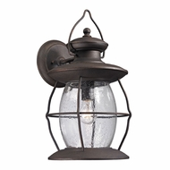 ELK 47044-1 Village Lantern Traditional Weathered Charcoal Exterior Wall Mounted Lamp