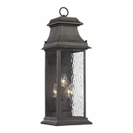 ELK 47051-3 Forged Provincial Traditional Charcoal Outdoor Wall Light Sconce