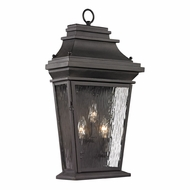ELK 47053-3 Forged Provincial Traditional Charcoal Outdoor Wall Sconce