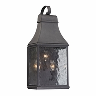 ELK 47072-3 Forged Jefferson Traditional Charcoal Exterior Lighting Wall Sconce