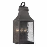 ELK 47073-3 Forged Jefferson Traditional Charcoal Outdoor Wall Lighting Sconce