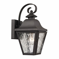 ELK 47100-1 Forged Brookridge Traditional Charcoal Exterior Sconce Lighting