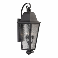 ELK 47103-4 Forged Brookridge Traditional Charcoal Outdoor Lamp Sconce