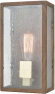 ELK 47130-1 McKenzie Contemporary Dark Wood Print / Brushed Brass Outdoor Wall Sconce Lighting
