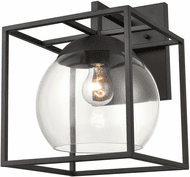 ELK 47322/1 Cubed Modern Charcoal Outdoor 10 Wall Lighting Sconce