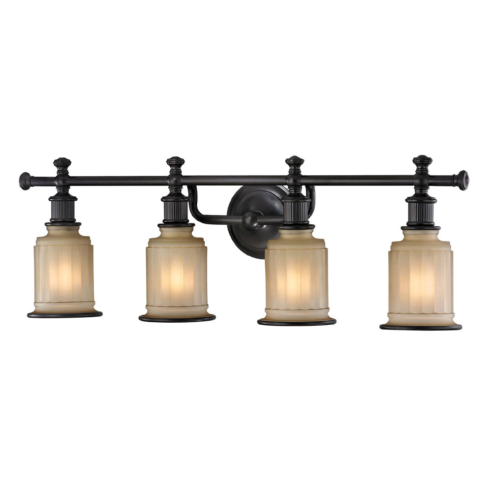 ELK 52013-4 Acadia Oil Rubbed Bronze 4-Light Bathroom Light Fixture ...