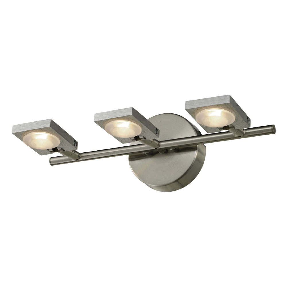 Ordinaire ELK 54012 3 Reilly Contemporary Brushed Nickel/Brushed Aluminum LED 3 Light  Vanity. Loading Zoom