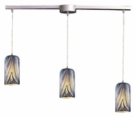ELK 544-3L-MO Molten 3 Lamp Linear Bar Ocean Glass Bar Light