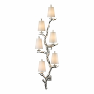 ELK 55005-6 Sprig Contemporary Silver Leaf Wall Lighting Fixture