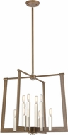 ELK 55054-8 Axis Contemporary Light Wood / Satin Nickel 24  Foyer Lighting Fixture