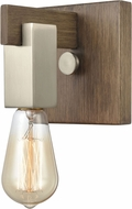 ELK 55056-1 Axis Contemporary Light Wood / Satin Nickel Wall Sconce