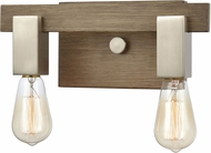 ELK 55057-2 Axis Modern Light Wood / Satin Nickel 2-Light Bathroom Vanity Lighting