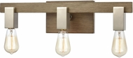 ELK 55058-3 Axis Modern Light Wood / Satin Nickel 3-Light Bathroom Vanity Light