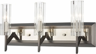 ELK 55071-3 Aspire Black Nickel / Polished Nickel 3-Light Vanity Light Fixture
