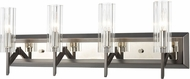 ELK 55072-4 Aspire Black Nickel / Polished Nickel 4-Light Vanity Lighting Fixture