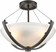 ELK 55082-3 Roebling Modern Oil Rubbed Bronze 18  Flush Mount Ceiling Light Fixture