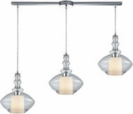 ELK 56500-3L Alora Modern Polished Chrome Multi Ceiling Light Pendant