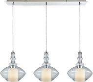 ELK 56500-3LP Alora Contemporary Polished Chrome Multi Ceiling Pendant Light