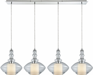 ELK 56500-4LP Alora Modern Polished Chrome Multi Drop Ceiling Light Fixture