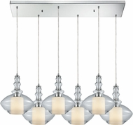 ELK 56500-6RC Alora Contemporary Polished Chrome Multi Drop Lighting Fixture