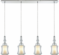 ELK 56501-4LP Alora Modern Polished Chrome Multi Hanging Lamp
