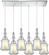 ELK 56501-6RC Alora Contemporary Polished Chrome Multi Hanging Light