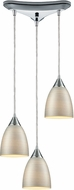 ELK 56530-3 Merida Modern Polished Chrome Multi Drop Ceiling Light Fixture