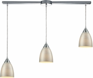 ELK 56530-3L Merida Contemporary Polished Chrome Multi Drop Lighting Fixture