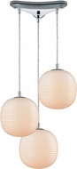 ELK 56560-3 Beehive Modern Polished Chrome Multi Drop Lighting