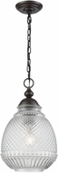 ELK 56585-1 Victoriana Contemporary Oil Rubbed Bronze Mini Hanging Lamp