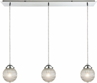 ELK 56591-3LP Victoriana Contemporary Polished Chrome Multi Ceiling Light Pendant