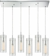 ELK 56595-6RC Swirl Contemporary Polished Chrome Multi Hanging Lamp
