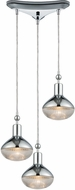 ELK 56623-3 Ravette Modern Polished Chrome Multi Pendant Lighting Fixture