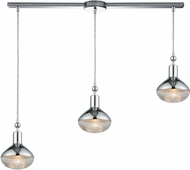 ELK 56623-3L Ravette Contemporary Polished Chrome Multi Hanging Pendant Lighting