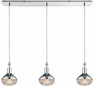 ELK 56623-3LP Ravette Modern Polished Chrome Multi Hanging Pendant Light