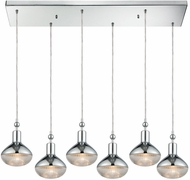 ELK 56623-6RC Ravette Modern Polished Chrome Multi Hanging Light Fixture