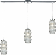 ELK 56650-3L Zigzag Contemporary Polished Chrome Multi Drop Ceiling Light Fixture