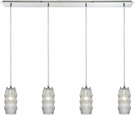 ELK 56650-4LP Zigzag Contemporary Polished Chrome Multi Pendant Lighting
