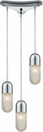ELK 56661-3 Capsula Modern Polished Chrome Multi Hanging Light