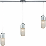 ELK 56661-3L Capsula Contemporary Polished Chrome Multi Pendant Light Fixture