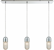 ELK 56661-3LP Capsula Modern Polished Chrome Multi Pendant Lighting Fixture