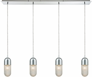 ELK 56661-4LP Capsula Contemporary Polished Chrome Multi Hanging Pendant Lighting