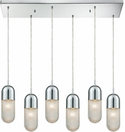 ELK 56661-6RC Capsula Modern Polished Chrome Multi Hanging Pendant Light