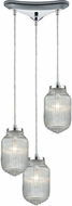 ELK 56662-3 Dubois Modern Polished Chrome Multi Hanging Light Fixture