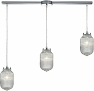 ELK 56662-3L Dubois Contemporary Polished Chrome Multi Drop Lighting