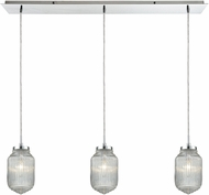 ELK 56662-3LP Dubois Modern Polished Chrome Multi Drop Ceiling Lighting