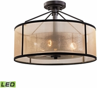 ELK 57024-3-LED Diffusion Oil Rubbed Bronze LED Overhead Light Fixture